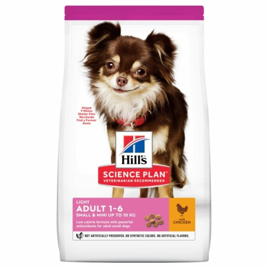 Hill's Science Plan Adult 1-6 Light Small & Mini with Chicken 6 kg
